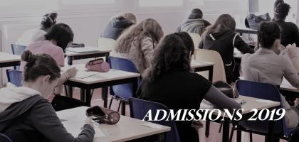 Procédure d'admission pour la rentrée 2019