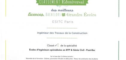 L'ESITC Paris, 1ère du classement SMBG 2017/2018