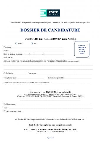 Dossier de candidature 2021 - TC2