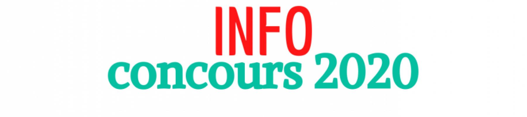COVID - 19 : AMÉNAGEMENT DES CONCOURS 2020