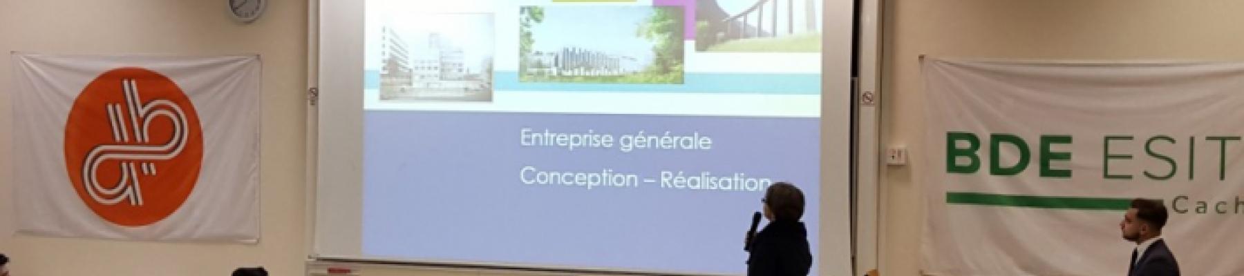 Demathieu & Bard aux Semaines Entreprises de l'ESITC Cachan