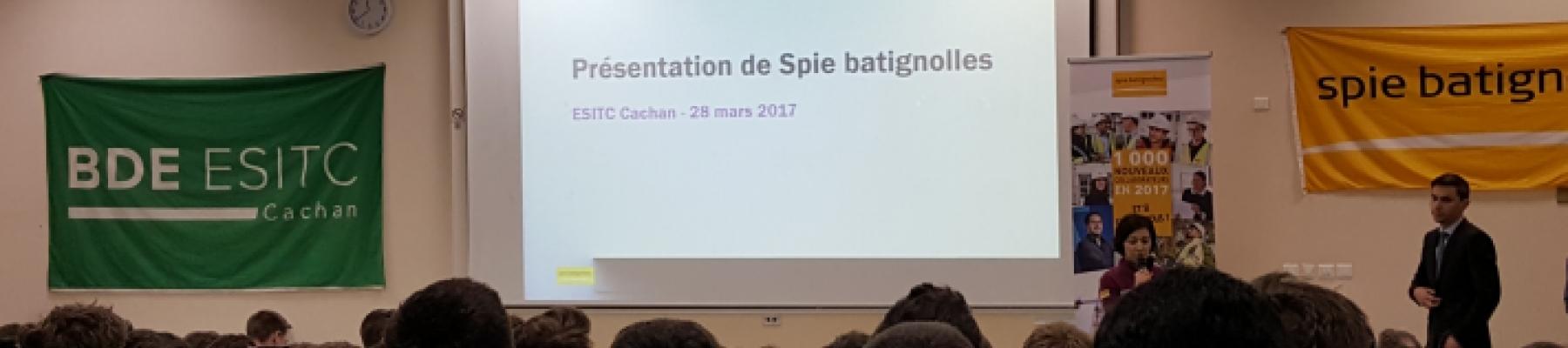 SPIE BATIGNOLLES à L'ESITC Cachan!