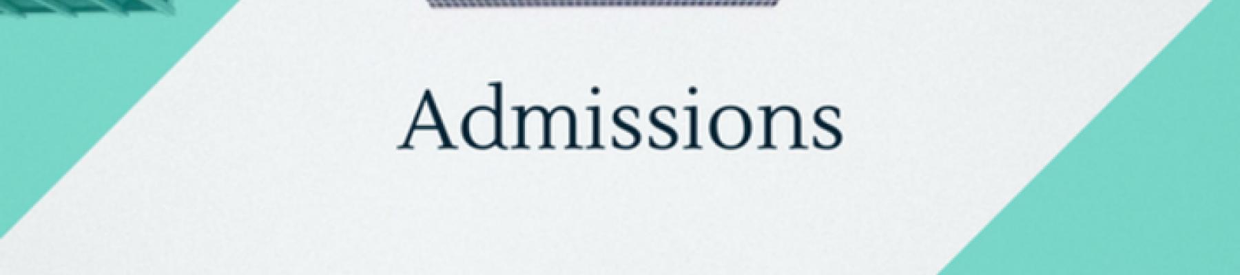 Procédure d'admission pour la rentrée 2018