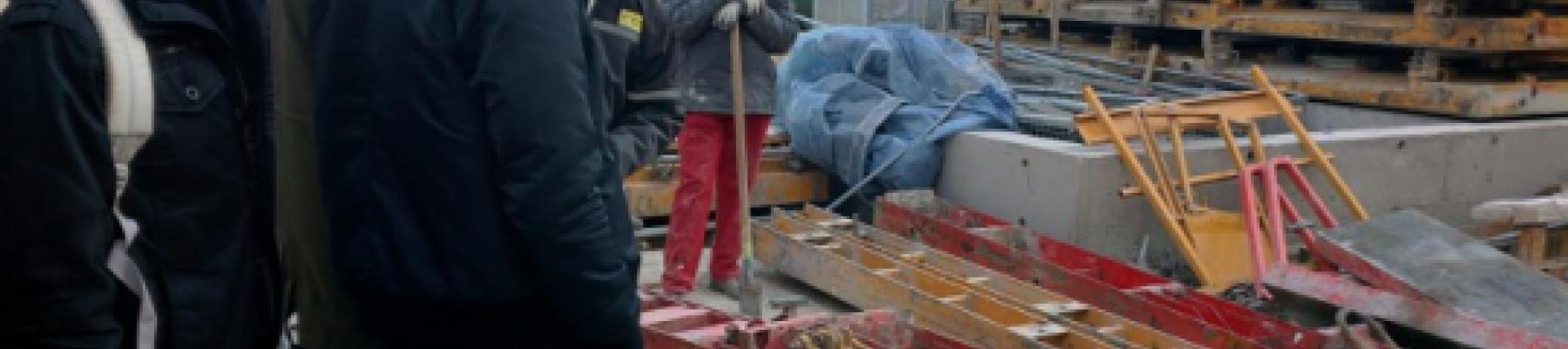 L'ESITC Cachan en visite sur un chantier à Ivry